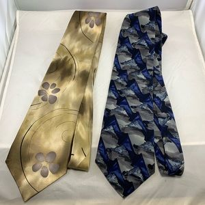 J. GARCIA Ties Blue Gold 100% Silk Collection 14
